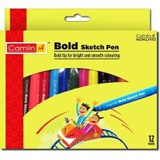 Camlin bold sketch pens 12 shades - Pack of 12