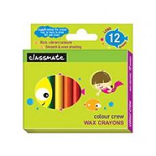 Classmate Wax Crayons Long 12 shades