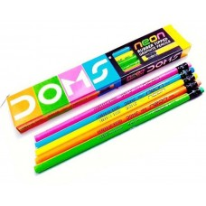 DOMS Neon Rubber Tipped Pencils - Pack of 10