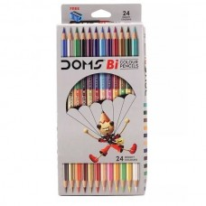 DOMS Bi Colours 24 Shades Pencil ( 12 Nos) - Pack of 1