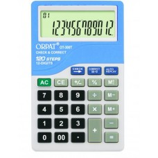 Orpat Check and Correct Calculators Pocket Size Calculators OT-300 T Baby Blue