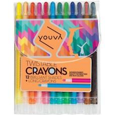 Navneet Youva Wax crayons twistable (pack of 12)