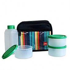 Cello Go 4 Eat Plastic Container Set, 4-Pieces, Green