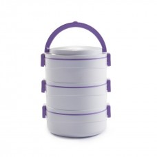 Cello Amaze Insulated Lunch Carrier (3 Container) Grey Violet