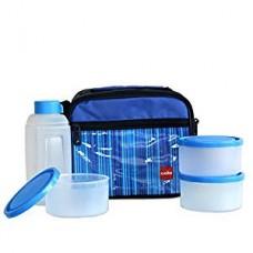 Cello Go 4 Eat Plastic Container Set, 4-Pieces, Blue