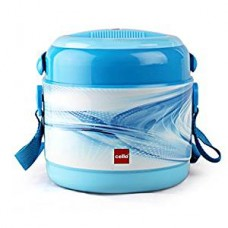Cello Mark 2 Plastic Lunch Box Set, 390ml, Set of 2, S.Blue