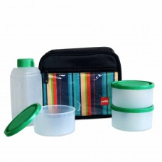 Cello Go 4 Eat Lunch packs (3 Container) Green