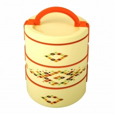 Cello Decker Insulated Lunch Carrier (3 Container) Big Orange
