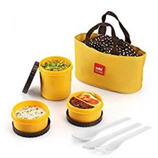 Cello Max Fresh Food Link Lunch Box Yellow