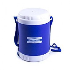 Cello Thermostar Insulated 4 Container Lunch Carrier, Blue