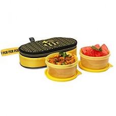 Cello Insulated Plastic TiffinBarcelona Plastic Lunch Box, 375ml, Yellow