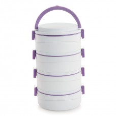 Cello Amaze Insulated Lunch Carrier (4 Container) Grey Violet