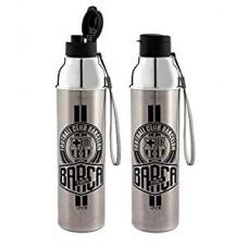 Cello Insulated Plastic TiffinBarcelona Tuff Steel Burg Plastic Sports Bottle, 900ml, Silver