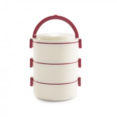 Cello Amaze Insulated Lunch Carrier (3 Container) Mop Red