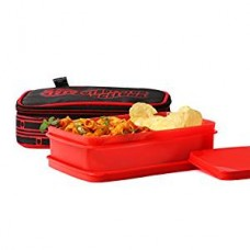 FCBARCELONA Half Time Lunch Box Red (Licensed By Cello)