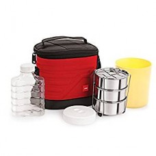 Cello Archo 3 Container Lunch Packs, Red