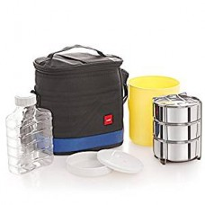 Cello Archo 3 Container Lunch Packs, Black