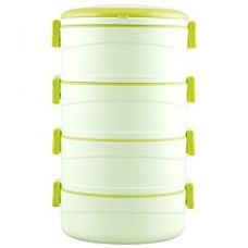 Cello Amaze Insulated 4 Container Lunch Carrier, Green