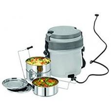 Cello Newton 3 Container Electric Lunch Box-Grey