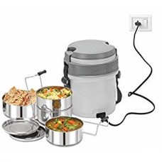 Cello Newton Electric Lunch Box with 4 Containers (Grey)