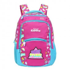 Smily Dual Color Backpack Fun Theme (Pink)