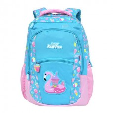 Smily Dual Color Backpack Swan Theme (Light Blue)